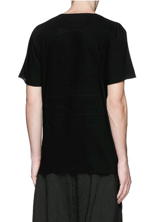 Back View - Click To Enlarge - Ziggy Chen - Raw cut cotton jersey T-shirt