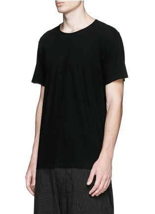 Front View - Click To Enlarge - Ziggy Chen - Raw cut cotton jersey T-shirt