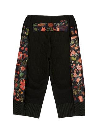 - Ziggy Chen - Pinstripe cotton-linen wide leg pants