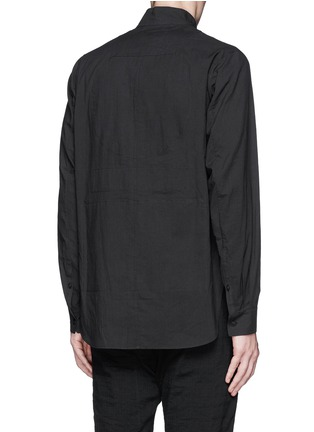 Back View - Click To Enlarge - Ziggy Chen - Mandarin collar cotton voile shirt