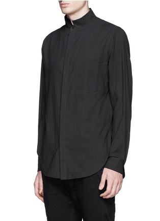 Front View - Click To Enlarge - Ziggy Chen - Mandarin collar cotton voile shirt