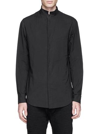 Main View - Click To Enlarge - Ziggy Chen - Mandarin collar cotton voile shirt