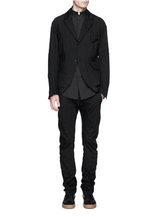 Figure View - Click To Enlarge - Ziggy Chen - Mandarin collar cotton voile shirt