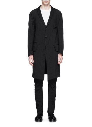 Main View - Click To Enlarge - Ziggy Chen - Peak lapel cotton voile coat