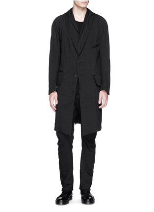 Figure View - Click To Enlarge - Ziggy Chen - Peak lapel cotton voile coat