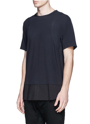 Front View - Click To Enlarge - Ziggy Chen - Shirttail cotton T-shirt
