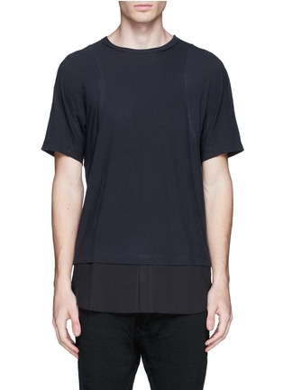 Main View - Click To Enlarge - Ziggy Chen - Shirttail cotton T-shirt