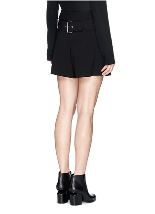Back View - Click To Enlarge - Alexander Wang  - Belted crepe shorts