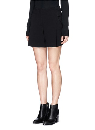 Front View - Click To Enlarge - Alexander Wang  - Belted crepe shorts