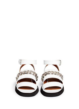 Figure View - Click To Enlarge - Givenchy - Curb chain leather flatform sandals
