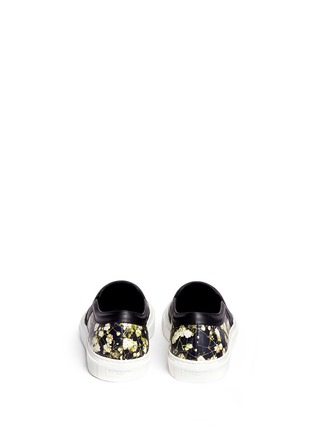 Back View - Click To Enlarge - Givenchy - Baby's breath floral print leather skate slip-ons