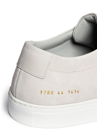 Detail View - Click To Enlarge - Common Projects - 'Original Achilles' nubuck leather sneakers
