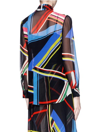 Back View - Click To Enlarge - PREEN BY THORNTON BREGAZZI - 'Vali' multi stripe print blouse