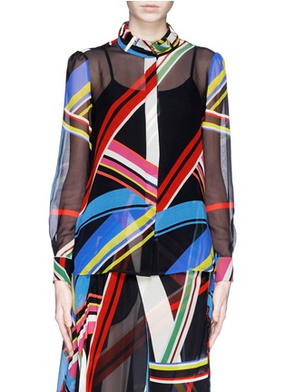 Main View - Click To Enlarge - PREEN BY THORNTON BREGAZZI - 'Vali' multi stripe print blouse