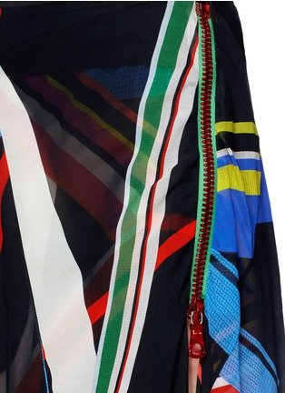 Detail View - Click To Enlarge - PREEN BY THORNTON BREGAZZI - 'Simi' multi stripe print irregular hem skirt