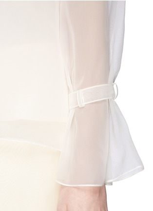 Detail View - Click To Enlarge - The Row - 'Vivian' bell sleeve chiffon blouse