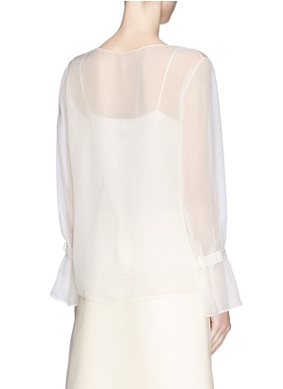Back View - Click To Enlarge - The Row - 'Vivian' bell sleeve chiffon blouse