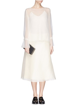 Figure View - Click To Enlarge - The Row - 'Vivian' bell sleeve chiffon blouse