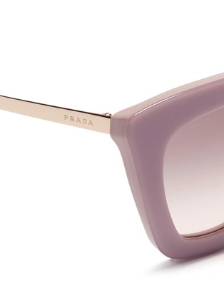 Detail View - Click To Enlarge - PRADA - Metal bridge colourblock acetate sunglasses