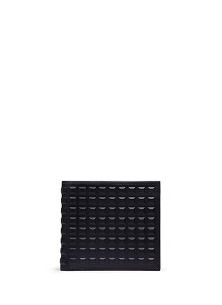 Main View - Click To Enlarge - Balenciaga - Embossed grid leather bifold wallet