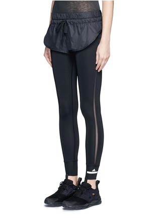Front View - Click To Enlarge - Adidas By Stella Mccartney - 'The Short Tight' layered leggings