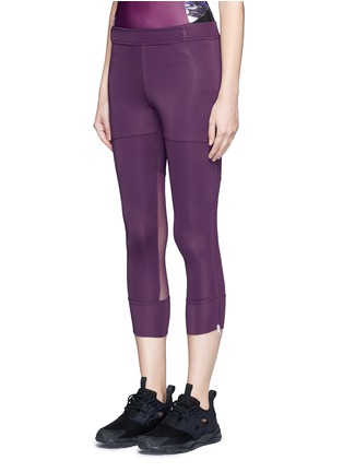 Front View - Click To Enlarge - Adidas By Stella Mccartney - 'Studio' mesh panel jersey leggings