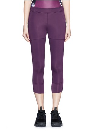 Main View - Click To Enlarge - Adidas By Stella Mccartney - 'Studio' mesh panel jersey leggings