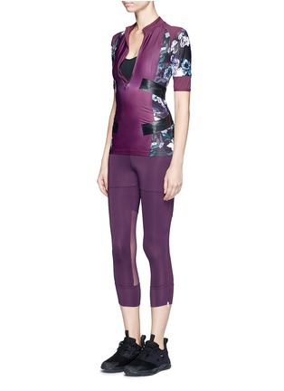 Figure View - Click To Enlarge - Adidas By Stella Mccartney - 'Studio' mesh panel jersey leggings