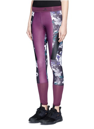 Front View - Click To Enlarge - Adidas By Stella Mccartney - 'Techfit' floral print performance leggings