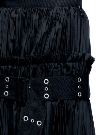 Detail View - Click To Enlarge - Sacai - Belted plissé pleat skirt