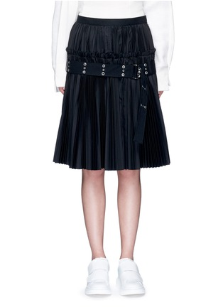 Main View - Click To Enlarge - Sacai - Belted plissé pleat skirt