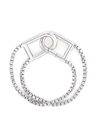 Main View - Click To Enlarge - Eddie Borgo - 'Allure' padlock clip box chain bracelet