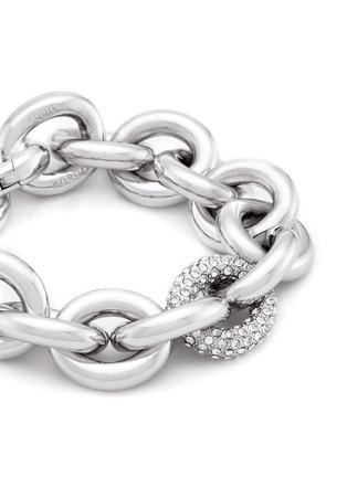 Detail View - Click To Enlarge - Eddie Borgo - Crystal pavé link chain bracelet