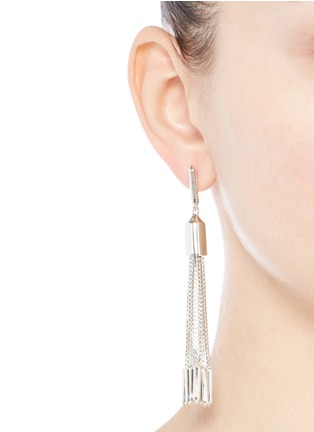 Figure View - Click To Enlarge - Eddie Borgo - 'Neo' tassel drop brass earrings