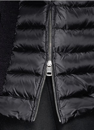 Detail View - Click To Enlarge - Moncler - Cable knit quilted down pullover