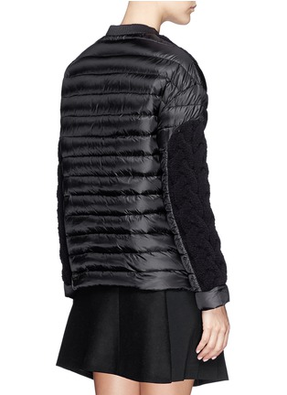 Back View - Click To Enlarge - Moncler - Cable knit quilted down pullover