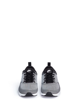 Front View - Click To Enlarge - Nike - 'Air Max Thea' stripe jacquard sneakers