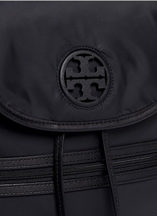 Detail View - Click To Enlarge - TORY BURCH - Leather trim nylon backpack