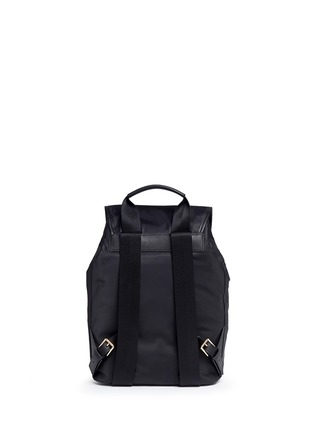 Back View - Click To Enlarge - TORY BURCH - Leather trim nylon backpack
