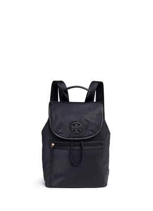 Main View - Click To Enlarge - TORY BURCH - Leather trim nylon backpack