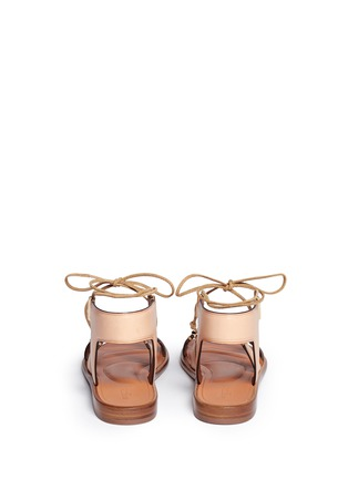 Back View - Click To Enlarge - Rosetta Getty - Crisscross lace-up leather sandals
