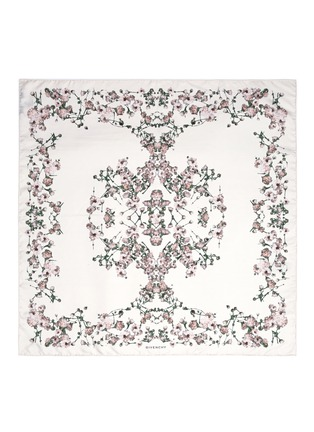 Main View - Click To Enlarge - Givenchy Beauty - Baby's breath floral print silk scarf