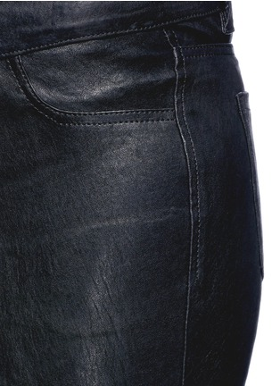 Detail View - Click To Enlarge - J Brand - 'Super Skinny' stretch leather pants