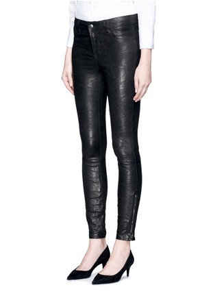 Front View - Click To Enlarge - J Brand - 'Super Skinny' stretch leather pants