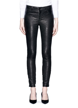Main View - Click To Enlarge - J Brand - 'Super Skinny' stretch leather pants