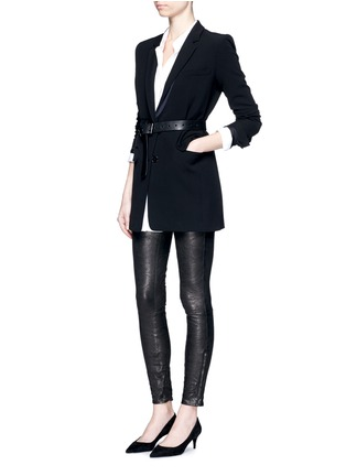 Figure View - Click To Enlarge - J Brand - 'Super Skinny' stretch leather pants