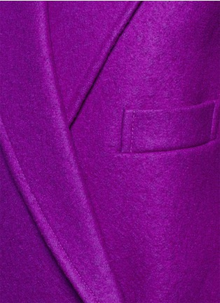 Detail View - Click To Enlarge - STELLA MCCARTNEY - Oversized lapel wool coat