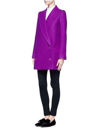 Front View - Click To Enlarge - STELLA MCCARTNEY - Oversized lapel wool coat