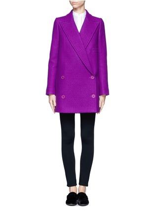 Main View - Click To Enlarge - STELLA MCCARTNEY - Oversized lapel wool coat