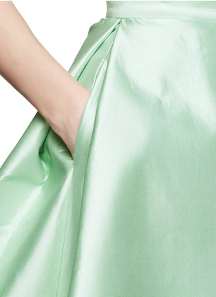 Detail View - Click To Enlarge - Chictopia - Pleat flare silk skirt